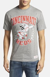 Men's Mitchell And Ness 'Cincinnati Reds Shooting Stars' Tailored Fit Graphic T Shirt
