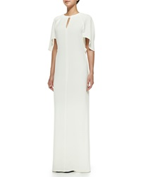 3.1 Phillip Lim Draped Keyhole Gown With Tie Back Ivory