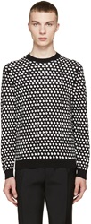 Marc By Marc Jacobs Black And White Jacquard Knit Sweater