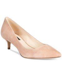 Inc International Concepts Danne Kitten Heel Pumps Only At Macy's Women's Shoes Blush