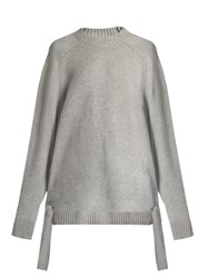 Tibi Tie Side Cashmere Sweater Grey