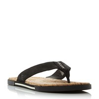 Ugg Braven Cork Toe Post Sandals Black
