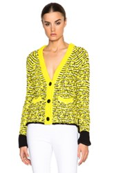 Rag And Bone Rag And Bone Viola Cardigan Sweater In Yellow Abstract Neon