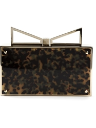 Sara Battaglia 'Lady Me' Clutch Nude And Neutrals