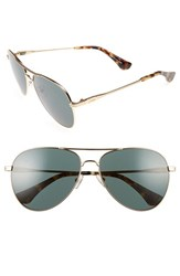 Sonix Women's Lodi 62Mm Mirrored Aviator Sunglasses Green Tint Gold