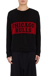 The Elder Statesman X Nba Men's Chicago Bulls Cashmere Sweater Black