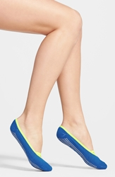 Zella 'Studio' Ankle Socks Blue Radiant Yellow X Ray