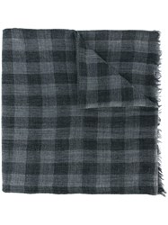 Woolrich Checked Scarf Grey