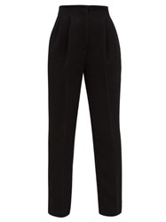 Emilia Wickstead Gus Tailored High Rise Trousers Black