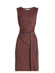 Diane Von Furstenberg Ashlie Dress Navy Multi
