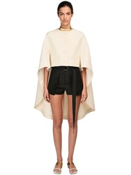 Lanvin Woven Wool And Silk Jacket Ecru
