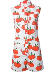 Au Jour Le Jour Apple Print Playsuit