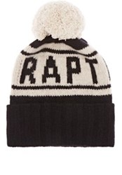 The Elder Statesman X Nba Men's Raptors Cashmere Pom Pom Beanie Black