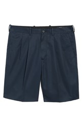 Nordstrom Big And Tall Shop Pleated Supima Cotton Shorts Navy Eclipse