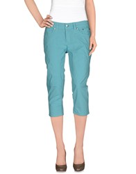 Jeckerson Trousers 3 4 Length Trousers Women Turquoise