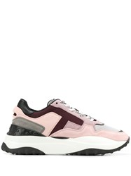 Tod's Suede And Nubuck Sneakers Pink
