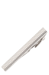 Trafalgar Raised Dot Tie Bar Silver