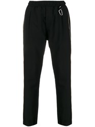 Low Brand Relaxed Fit Hook Detail Track Pants Black