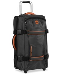 Timberland Twin Mountain 22 Wheeled Duffel Bag Black Burnt Orange