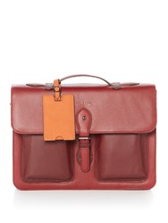 Ted Baker Quint Leather Satchel Red