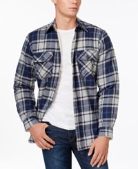 Club Room Big And Tall Plaid Button Front Shirt Jacket Only At Macy's