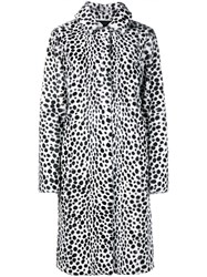 Givenchy Printed Goat Hair Coat Black White Leopard Denim