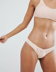 Billabong Ribbed High Leg Bikini Bottom Barely Blush Pink