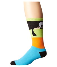Neff Look Out Goofy Sock Lime Men's Crew Cut Socks Shoes Green