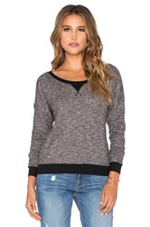 Bobi French Terry Light Weight Cashmere Pullover Black