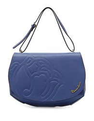 Braccialini Ninfea Leather Shoulder Bag Blue