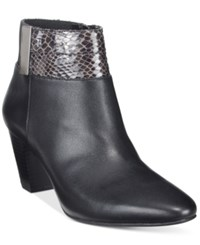 Alfani Women's Step 'N Flex Palessa Booties Only At Macy's Women's Shoes Anthracite Black