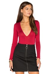 Clayton Austin Bodysuit Red