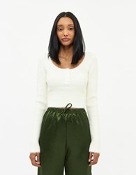Which We Want Shannon Crop Top In Ivory Size Small