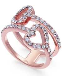 Joan Boyce Pave Double Heart Ring Pink