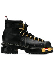Thom Browne Black Vitello Hiking Boot