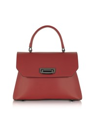 Le Parmentier Handbags Lutece Small Red Leather Top Handle Satchel Bag
