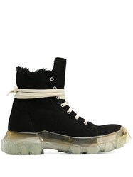 Rick Owens Chunky Sole Boots Black