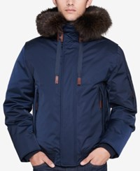 Andrew Marc New York Men's Alpine Bomber Jacket Ink