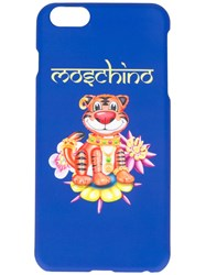 Moschino Jewelled Tiger Iphone 6 Plus Case Blue