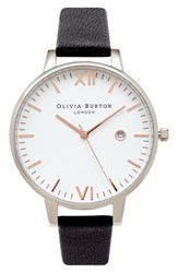 Women's Olivia Burton 'Timeless' Leather Strap Watch 38Mm