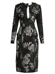 Erdem Chrissy Jacquard Dress Black Multi