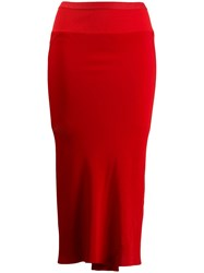 Rick Owens Fitted Skirt Red