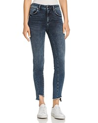 Mavi Jeans Tess Step Hem Skinny In Twisted Dark Ink