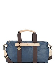 Will Leather Goods Waxed Canvas Duffel Bag Navy