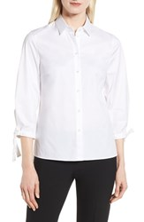 Boss Biulepa Stretch Cotton Tie Sleeve Top