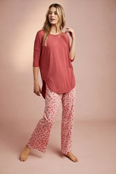 Floreat Catnap Sleep Pants Red Motif