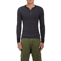 Nsf Men's Sorel Waffle Knit Henley Dark Grey