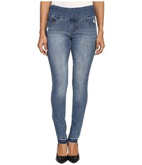 Jag Jeans Petite Nora Pull On Skinny In Comfort Denim In Weathered Blue Weathered Blue Women's Navy