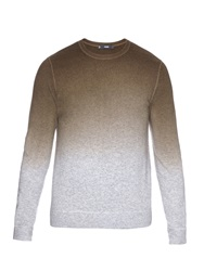 Vince Ombre Wool And Cashmere Blend Knit Sweater