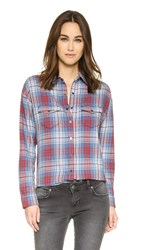 Joe's Jeans Harlow Shirt Red Plaid